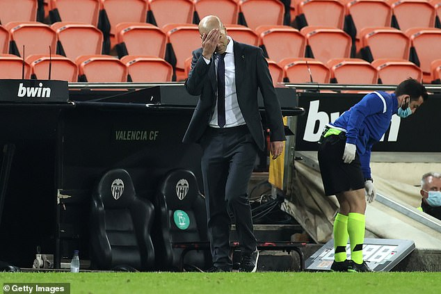 Zinedine Zidane continues to stick by Hazard but the pressure on him is now mounting