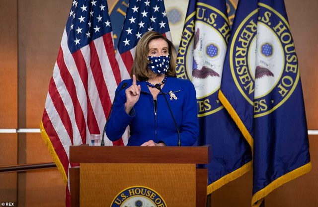 House Speaker Nancy Pelosi said Thursday Democrats will vote to remove Marjorie Taylor Greene from her two committee assignments in a floor vote later in the day