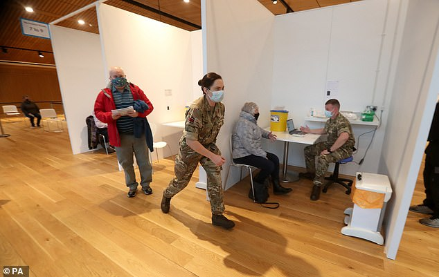 More than 200 members of military personnel are supporting the vaccination rollout across Scotland