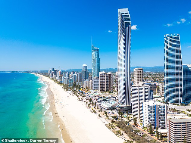 It's understood the woman was on holidays from Victoria visiting the Gold Coast (pictured)