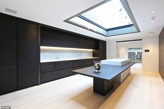 Plenty of space in the city: The spacious London townhouse extends across six levels and 14,510 sq ft