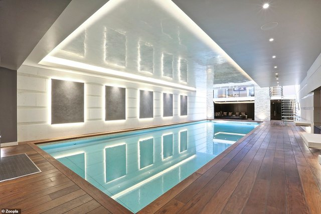 The Mayfair house has an indoor leisure suite that includes a large swimming pool, a gym and a hot tub