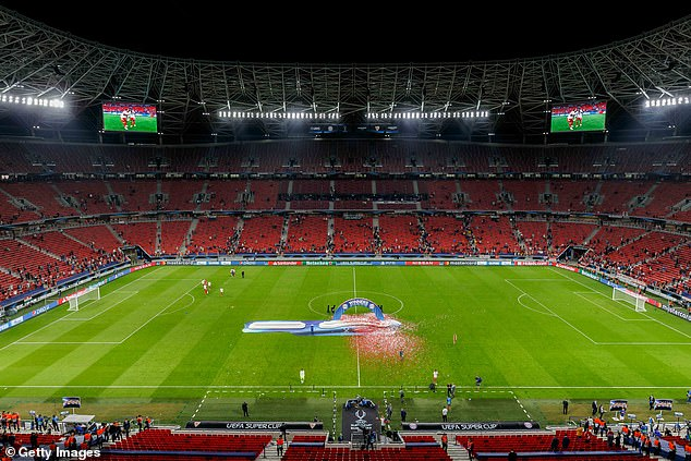 The Puskas Arena in Budapest will host both Liverpool and Manchester City's last-16 games