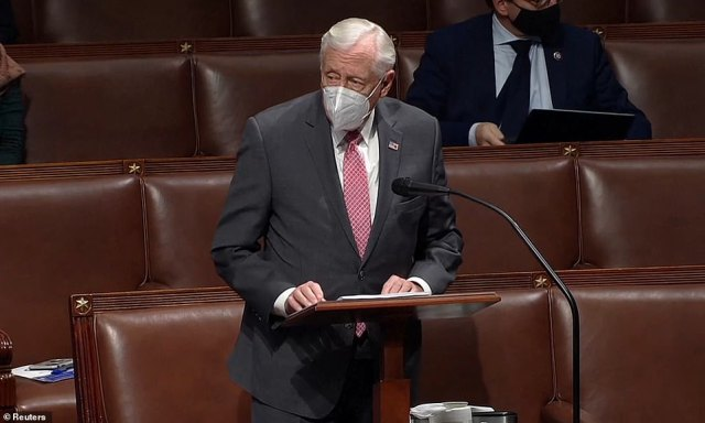House Majority Leader Steny Hoyer issues a scathing condemnation of Greene during his remarks on the floor Thursday