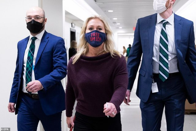 While speaking on the floor before the vote on removing her from committee assignments on Thursday, Greene disavowed many of the beliefs pushed by QAnon and said her past social media posts should not be brought up against her regarding her job in Congress