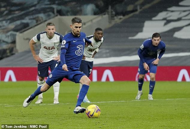 Tottenham were beaten 1-0 by Chelsea with Jorginho scoring from the penalty spot
