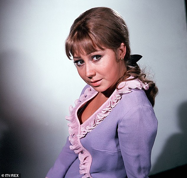 Barely aged a day: Felicity is pictured in drama Man In A Suitcase in 1968