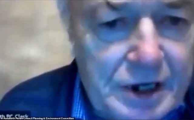 Weaver,Cheshire Association of Local Councils, clashes with chairman Brian Tolver who claims he was chucked out of an earlier meeting by her and refuses to accept the meeting's legitimacy. He is later thrown out again for telling Weaver to 'stop talking' but today said he had no regrets