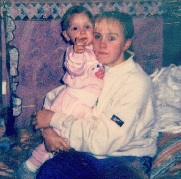 Emma Robertson Coupland pictured with her daughter Nicole as a baby