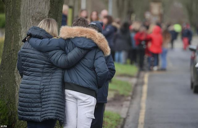 The streets were lined with people today as friends, family and neighbours came out in force to watch Olly's funeral procession