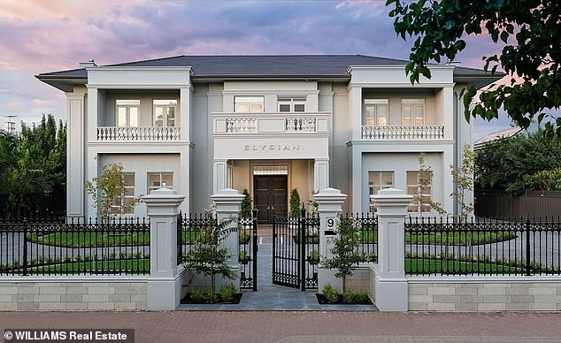 The 'Elysian' mansion on9 Robe Tce, Medindie in the northern suburbs in Adelaide sold for more than $10 million