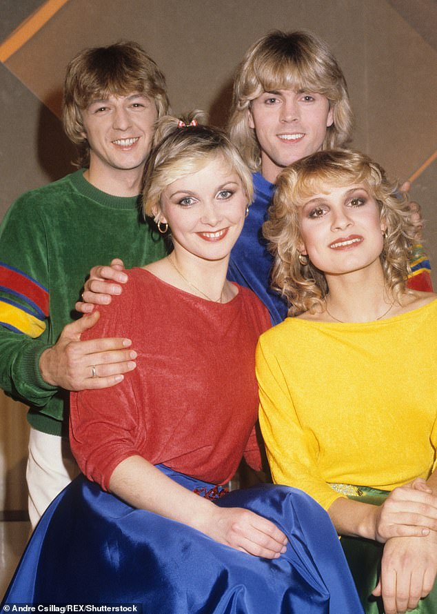 Above, Bucks Fizz in their heyday. Cheryl deeply regrets the group's long, bitter in-fighting and financially draining legal disputes.First with original band member Jay Aston (front, right), who was nearly bankrupted when she left under very bad terms, breaking her contract in 1985; then with another founder member Bobby G (back, left), and later, David Van Day who joined the group from Dollar in the late 1990s — all embroiled in endless and expensive legal battles over who had the right to use the Bucks Fizz name