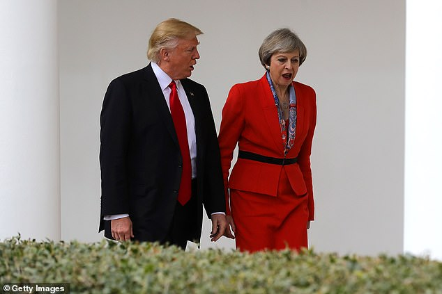 Former US deputy national security adviser, KT McFarland, revealed that the former president believed Mrs May was 'not strong'