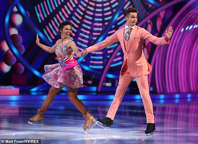 Kicking things off: Joe-Warren Plant and Vanessa Bauer opened the show with a fun quickstep