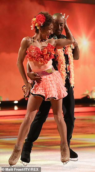 Feeling it: The duo ensured to include some classic samba moves