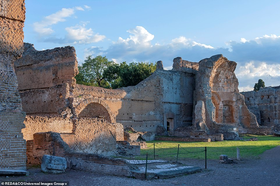 Pictured, the ruins of Hadrian's villa. Today, the remains are protected as a UNESCO World Heritage Site