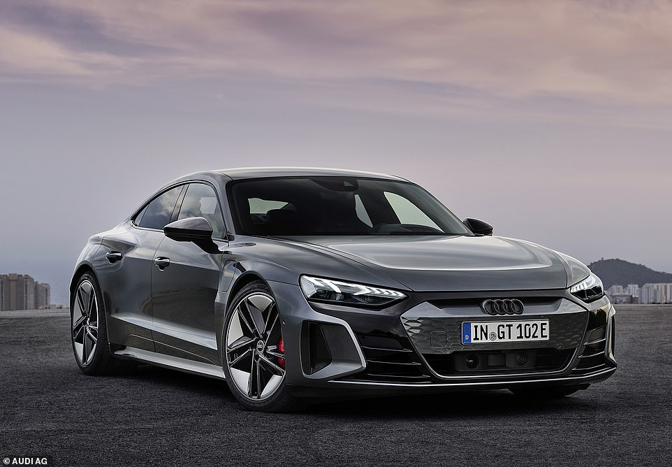 Propulsion for the all-wheel drive or 'quattro' GT is from two electric motors – one on the front axle and a second more powerful one on the rear axle. In normal mode that will give the RS a total combined 598 horse-power (440kW) and the GT Quattro 476 horse-power (350kW)