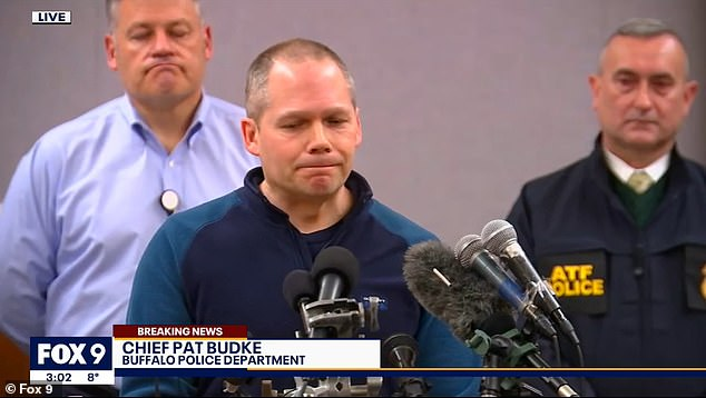 Buffalo Police Chief Pat Budke confirmed the suspect's identity at a press conference Tuesday afternoon where said earlier reports that four homemade bombs had been detonated at the center are now known to be incorrect