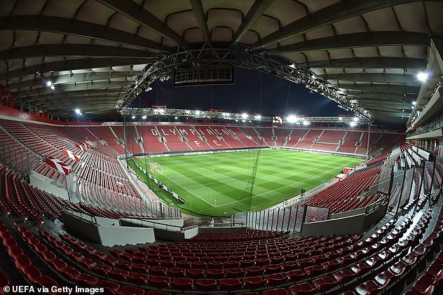 Olympiacos' Georgios Karaiskakis Stadium had been announced to host Arsenal's 'home' leg but this will have to be changed because of a new lockdown in Athens