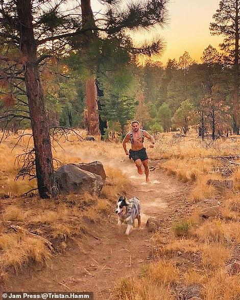 Tristan out running in Flagstaff, Arizona