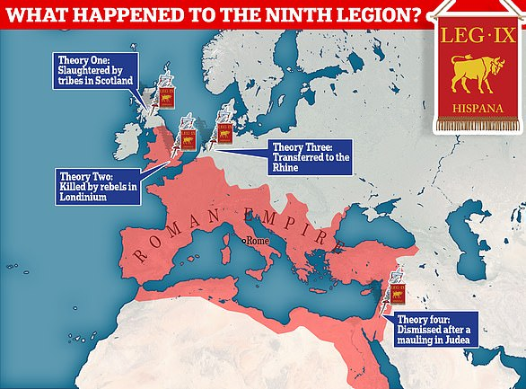 The mystery of what happened to the Roman Army's Ninth Legion, who came to Britain with Emperor Claudius's invasion, continues to vex experts. Dr Simon Elliott, in his new book Roman Britain's Missing Legion - What Really Happened to IX Hispana? goes over the theories. He concludes the men were likely ambushed and cut to pieces by tribes in what is now Scotland