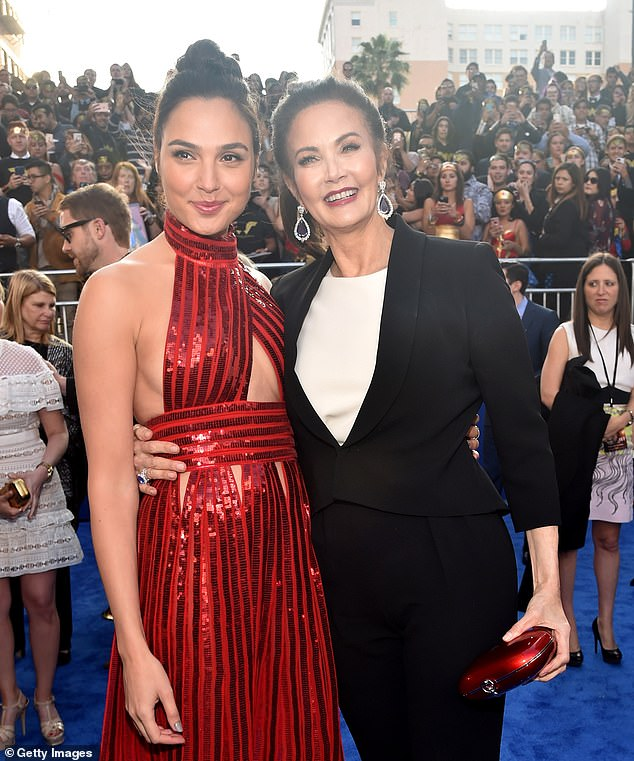 They became close friends: Carter got to know Gal Gadot (left) who plays Wonder Woman in the movies;  seen in 2017 in Hollywood, California