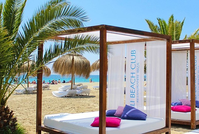Sharif Mohamed enjoyed the sun on a trip to Ibiza - including a stop at the Bali Beach Club (Pictured), the court heard