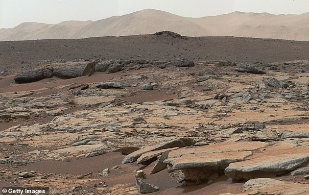 By comparing the amount of lithium and potassium with the other elements they detected—sodium and calcium—they found that the ratio of elements matched the chemical composition of the crust of rocky planets like Earth and Mars (pictured)