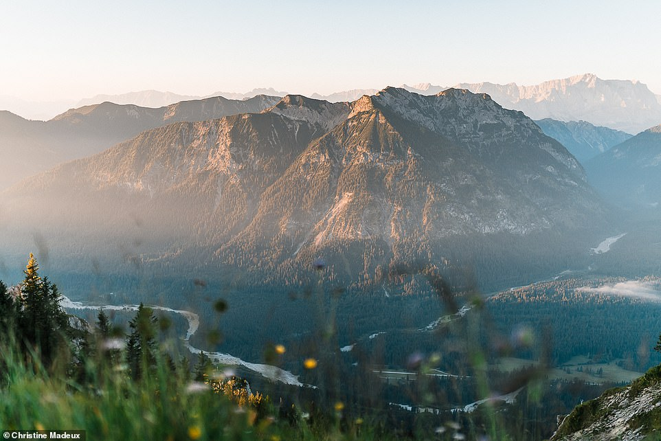 A stunning shot taken by Christine at sunrise above the Ammer Valley in the Ammergau Alps, a mountain range in the Bavarian Alps that runs through Bavaria and into Tyrol in Austria