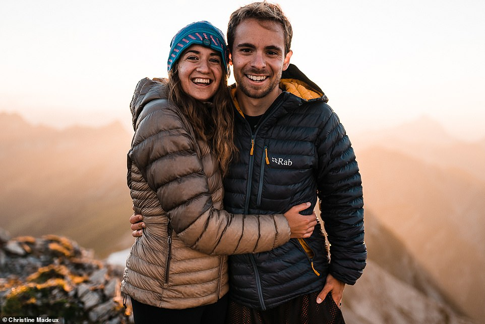 Photographer Christine and her husband Scott. The pair are both from the United States but moved to Garmisch-Partenkirchen in Bavaria in 2019