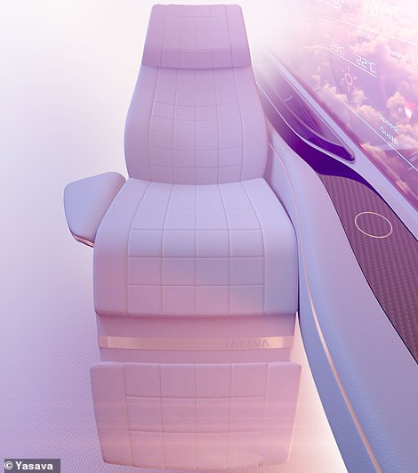One of Yasava's bespoke private jet seats