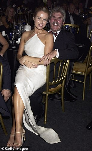 Amanda and her step father at theLa Dolce Vita Gala
