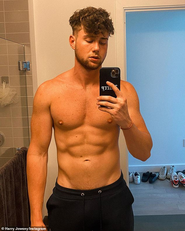Trend: Bill's decision to join the platform comes just weeks after Netflix's Too Hot To Handle Aussie star Harry Jowsey (pictured) joined the adult website