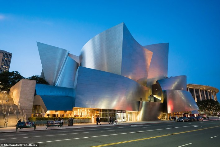 The Walt Disney Concert Hall is the home of the Los Angeles Philharmonic orchestra. It opened in 2003
