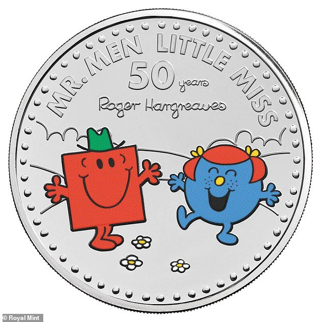 Coins featuring Little Miss Sunshine and Mr Strong and Little Miss Giggles are also set to be released as part of the commemorative series