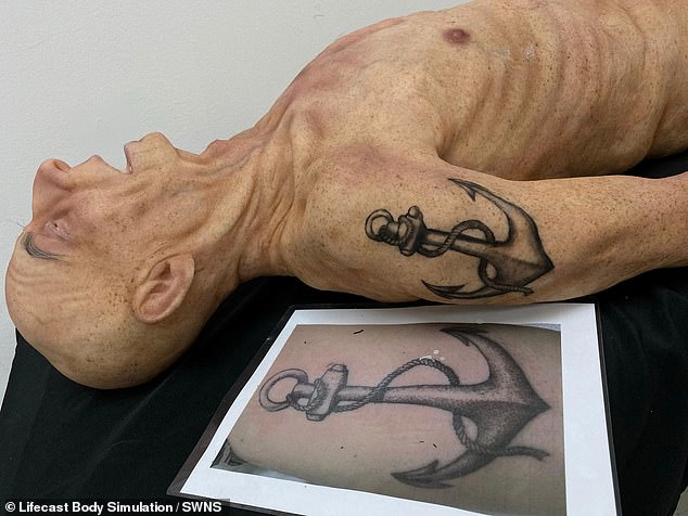 Lifecast Body Simulation models like this one even replicate tattoos and intricate details such as nose hairs