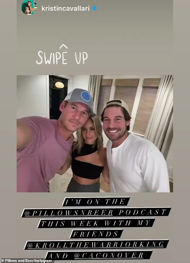 Talk about it: Kristin Cavallari tried to clear the air surrounding the drama Southern Charm as she chatted with Austen Kroll and Craig Conover's Pillows and Beer podcast on Tuesday night.