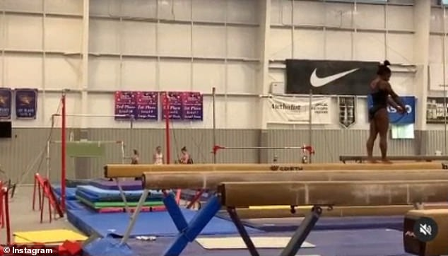 Where the magic happens:Biles trains at World Champions Centre, the gym founded by her parents Ron and Nellie Biles in Spring, Texas