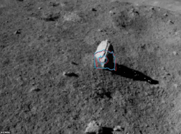 The Chang'e-4 lander and Yutu 2 rover recently spent 14 days hibernating during the long lunar night to protect mechanisms from freezing – temperatures can reach -310 degrees Fahrenheit. After powering back on February 6, the rover continued its work of exploring the far side and that is when it spotted the unusual stalagmite