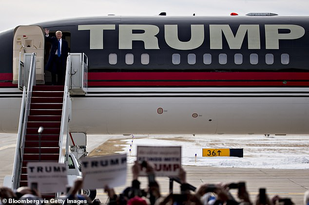 Trump's own plane, which he used throughout the 2016 plane, is undergoing repairs in New York