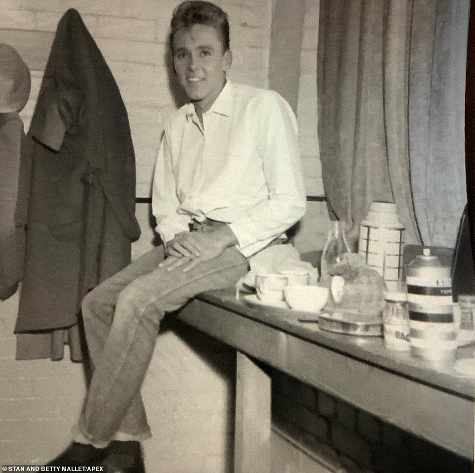 Billy Fury is pictured sitting on a table decked out with coffee at the ABC in 1961. There were so many iconic moments captured by their parents' lens the brothers are considering putting on a photography exhibition to display their work. 'My parents managed to preserve a lot of magical moments from the '60s,' Frank said