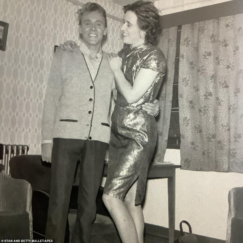 Billy Fury is pictured with his arm around Mrs Mallett. Then in his 20s, the singer reached No. 9 in the UK Singles Chart with his own song Colette in 1960 and was accompanied by The Tornados as his backing bank from January 1962 to August 1963. The Beatles, then known as the Silver Beatles, were originally offered the gig for £20 a week but John Lennon turned it down when they were asked to sack their bassist Stuart Sutcliffe