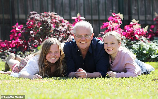 Mr Morrison, a father of two daughters (pictured together), revealed he was determined to take action after speaking to his wife about the incident on Monday night
