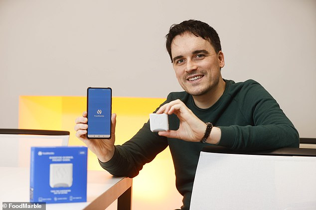Aonghus launched FoodMarble in 2016 after trying to find ways to help his then-fiancée tackle her digestive issues. He has since sold over 20,000 devices to help others with similar issues
