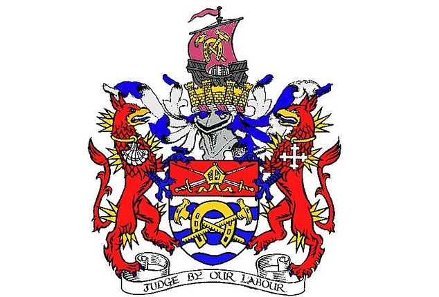 Hammersmith and Fulham council's coat of arms (pictured) commemorates the arrival of Viking ships in the borough in 879AD - but some fear it could actually represent a slave vessel