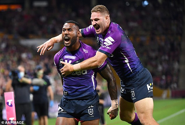 Vunivalu has won two premierships in his 111 games with Melbourne Storm