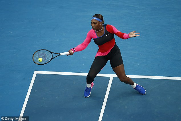 Williams is winning 2-0 early in the first set of the quarter finals on Rod Laver Arena on Tuesday night