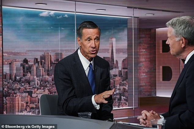 Arne Sorenson, president and chief executive officer of Marriott International, speaks during a Bloomberg Television interview in New York on June 3, 2019