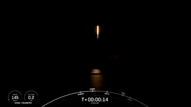 Because the area was completely dark, the rocket looked like a shooting star heading back into space. After releasing the batch of Starlinks, the booster made a successful re-entry burn back into the atmosphere by re-igniting its three engines to slow down