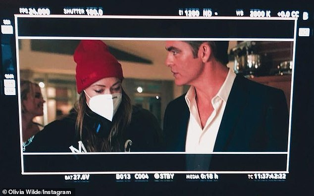 'Such a thrill to work with you!' Before that, Pine reunited with his People Like Us leading lady Olivia Wilde (L) to act in her second directorial feature, Don't Worry Darling, which wrapped on February 13